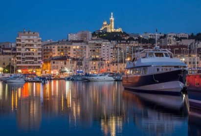 The Vieux Port area of Marseille in the Cote d